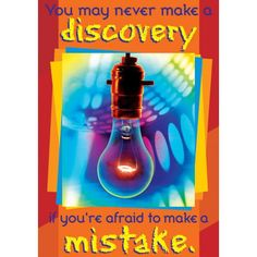 You May Never Make a Discovery Poster - Posters - Classroom Displays - Shop by Category