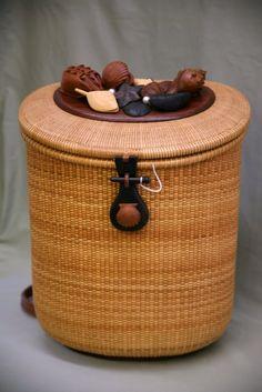 Back Pack Nantucket Lightship Baskets Red Basket, Nantucket Baskets, Market Baskets, Basket Decoration, Basket Weaving, Natural, Decorative Boxes, Carving, Backpacks