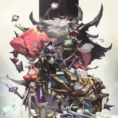 Warcraft x Adventure Time by Tan Zhi Hui #worldofwarcraft #blizzard #Hearthstone #wow #Warcraft #BlizzardCS #gaming