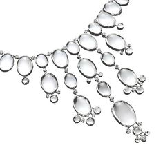 mother of pearl, rock crystal + diamond bubble bib necklace | Ivanka Trump Jewelry Collection
