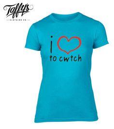 I Love Heart Swansea Ladies T-Shirt