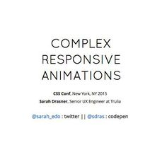 A Slideshow presentatino on the topic Complex Responsive Animations (expecially important for brand / corporation) #Animation  #Inspiration