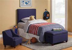 Lucas Transitional Royal Blue Wood Kids Bedroom Set