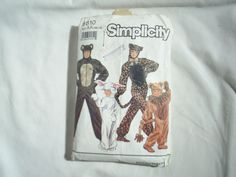Halloween Bear Lion Cat Rabbit Costume Pattern Simplicity 9810 Adult Child UNCUT