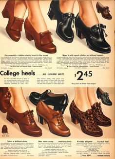 Fifties winter shoes