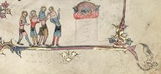 Puppet show in Oxford, Bodleian Library MS Bodley 264.