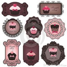 Cupcake Labels Royalty Free Stock Photos - Image: 16757028