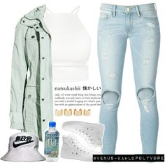 K A T H Y by venus-kahlo on Polyvore featuring Burberry, Frame Denim, Maison Margiela and Converse