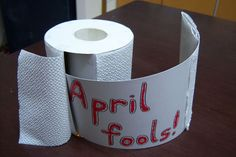 Oh no — it looked like there was a whole roll of TP, but the joke's on you. April Fools!