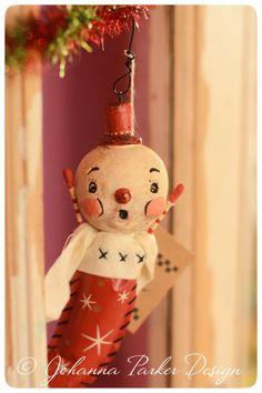 Johanna-Parker-Stocking-Snowman by Johanna Parker Design, via Flickr