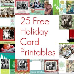25 free christmas card printables from the holiday helper - Free Photo Christmas Card Templates