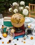 center pieces travel theme