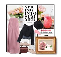 """""""Spring Into Summer"""" by esterbf ❤ liked on Polyvore featuring Boohoo, Chloé, Clarks, Chanel, Kevyn Aucoin, Kjaer Weis, Spring and polyvoreset"""