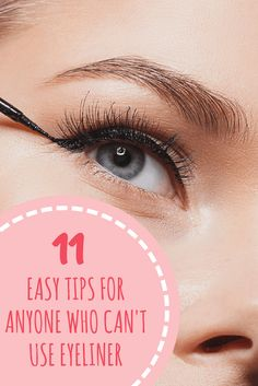 Eyeliner And Mascara Tips Everyone Should Know Simple Eyeliner, How To Apply Eyeliner, Applying Eyeliner, Applying Makeup, Makeup Tips, Eye Makeup, Makeup Ideas, Pencil Eyeliner, Black Eyeliner