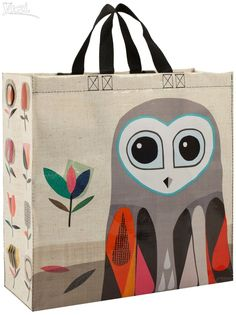Blue Q - Owl - Be Green! Reusable Shoulder Tote Grocery Bag Recycled Product | Clothing, Shoes & Accessories, Women's Handbags & Bags, Travel & Shopping Bags | eBay!