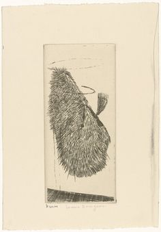 Louise Bourgeois. Looking at Her Sidewise, state III. (c. 1990)