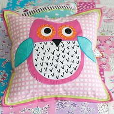 Little Owl Blossom Pink Decorative Pillow...brings finishing touch to any baby girl's nursery