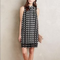 "Being donated 6-2! Anthropologie Swing Dress Marzena Swing Dress by Sachin + Babi Swing mesh style dress perfect for any occasion! Fully lined and unique! Polyester; polyester lining Swing silhouette Back zip Size 10P falls 32.5"" from shoulder Anthropologie Dresses Mini"