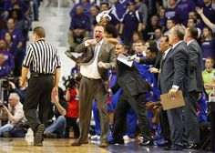 Kansas head coach Bill Self pumps his fist after some defensive hustle by the Jayhawks ~ 1.22.13