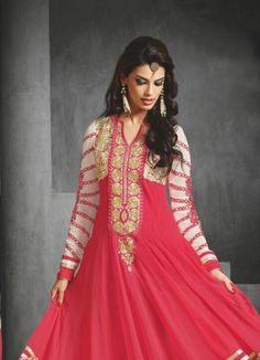 Attrective Designer and Party wear pink Salwar Suit