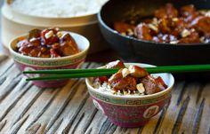 Κοτόπουλο KUNG PAO Chili, Soup, Chile, Soups, Chilis