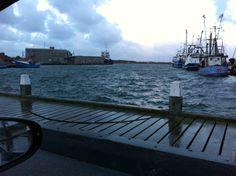 """High water level in Hvide Sande after storm """"Christian"""" #denmark #hvidesande #storm #christian"""