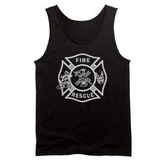 Fire Rescue Firefighter Tank Top