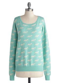 Moose Crossing My Mind Sweater