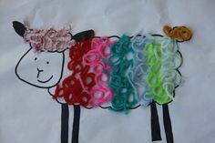 """Woolly lamb - easy activity for toddlers.  This was the """"with adult help"""" version!"""