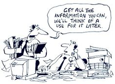Store everything, analyze later. Mind the #dataquality and #datalineage