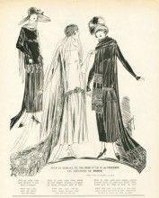 """Worth 1924 """"Mariage de Mlle Diaz et de M. de Vilmorin"""" Wedding Dress, Satin Blanc, Dentelle"""