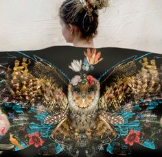 Owl/Wing Scarves by Chrissy Ink Design
