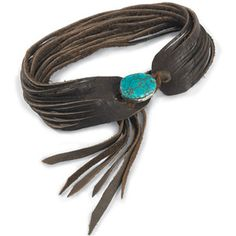 Shredded leather choker, looks amazing and you don't have to be a cowgirl to wear it.