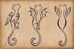 Cat outlines. | Tattoos | Pinterest