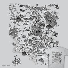 Map of Middle Earth | Shirtoid #book #film #jrrtolkien #map #middleearth #movies #paulsimic #thehobbit #thelordoftherings
