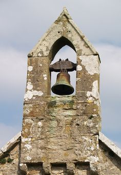 Anglesey, Llanfihangel Din Sylwy, St Michael's church bell tower.