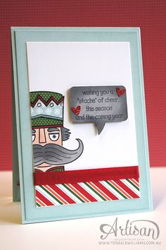 By Teneale Williams   Inside Design   Santa Stache By Stampin'Up!