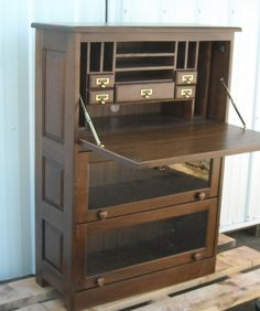 Hand Made Barrister Bookcase, Drop Front Computer Desk by Tom Kies Woodworks | CustomMade.com