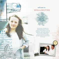 Welcome to Wellington by Lynn Grieveson  (The Lily Pad) using Mess with Text brushes and Big Sky kit.