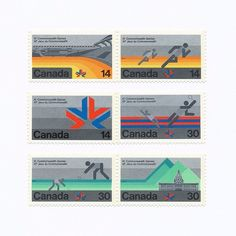 Canada - XI Commonwealth Games Stamp. Design by Stuart Ash, 1978