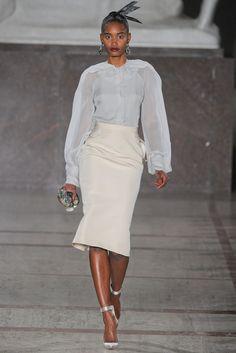 Zac Posen Fall 2012 Ready-to-Wear Fashion Show - Melodie Monrose