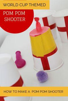 How to make a pom pom shooter - world cup craft (football / soccer)