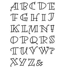 Imagen relacionada Hand Lettering Alphabet, Doodle Lettering, Creative Lettering, Lettering Styles, Calligraphy Letters, Lettering Design, Journal Fonts, Bullet Journal Writing, Bullet Journal Ideas Pages