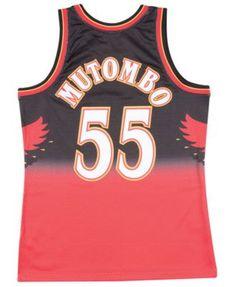 33e519e2308 Mitchell   Ness Big Boys Dikembe Mutombo Atlanta Hawks Hardwood Classic  Swingman Jersey - Red