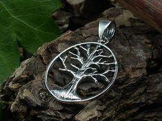 925 Sterling Silber, Lebensbaum, Yggdrasil, Kelten, Weltenbaum, Anhänger, oval
