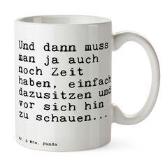 Tasse Text aus Keramik  Weiß - Das Original von Mr. & Mrs. Panda.  Eine wunderschöne spülmaschinenfeste Keramiktasse aus dem Hause Mr. & Mrs. Panda, liebevoll verziert mit handentworfenen Sprüchen, Motiven und Zeichnungen. Unsere Tassen sind immer ein besonders liebevolles und einzigartiges Geschenk. Jede Tasse wird von Mrs. Panda entworfen und in liebevoller Arbeit in unserer Manufaktur in Norddeutschland gefertigt. Die Tasse ist spülmaschinenfest bis zu 2000 Waschgängen.    Über unser…