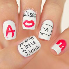 Nails pretty little liars ideas Preety Little Liars, Pretty Little Liars Quotes, Pll, Pretty Nail Colors, Pretty Nails, Nail Quotes, Luxury Nails, Disney Nails, Perfect Nails