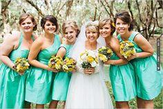 aqua bridesmaid dresses | CHECK OUT MORE IDEAS AT WEDDINGPINS.NET | #bridesmaids