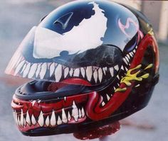 Awesome custom motorcycle helmet by Canyon Smith.