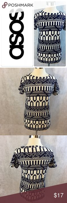 ASOS Aztec Print Top - Size 6 This ASOS Aztec print too is gently loved and is in great condition with no signs of wear.  This top is extremely soft and is 💯 % cotton. ASOS Tops